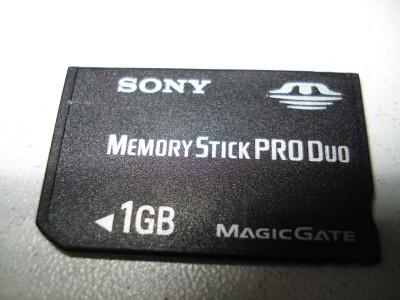 поддельный memory stick 1gb